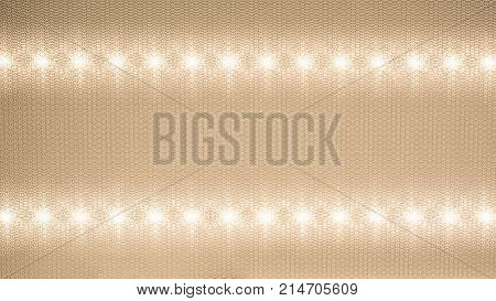 reflector of a light-emitting diode recessed into a ceiling, close-up abstract background