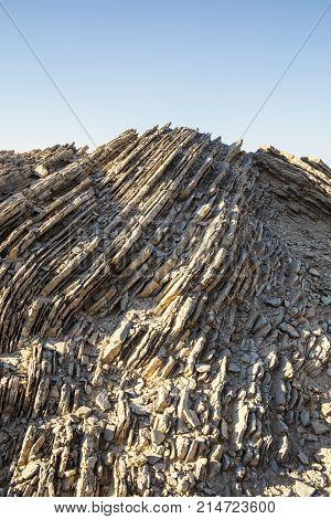 rock layers blue sky