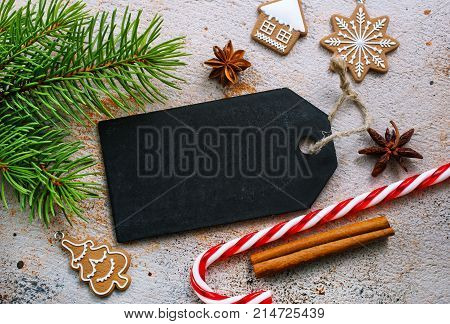 christmas background for note or letter, stock photo