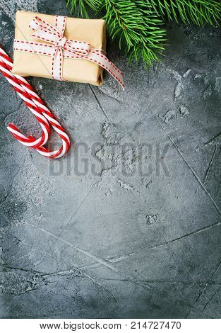 Christmas background for cards or letters, stock photo