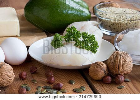 Healthy Fats - Fish, Avocado, Butter, Eggs, Coconut Oil, Nuts And Seeds