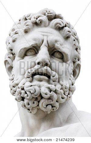 Hercules isolated on white. Loggia della Signoria, Florence, Italy