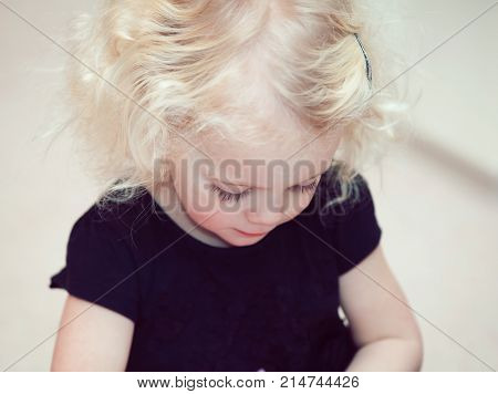 little girl blond hair