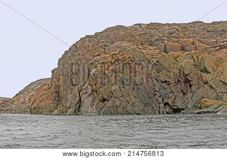 Bare Rock on the Lower Savage Islands near Baffin Island in Nunavut in the arctic area of Canada