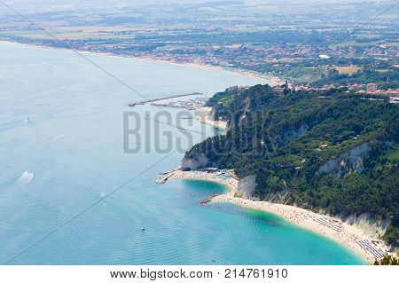 Sirolo Beach From Monte Conero, Italy