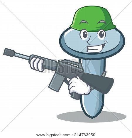 Army nail character cartoon style vector illustration