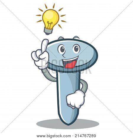 Have an idea nail character cartoon style vector illustration