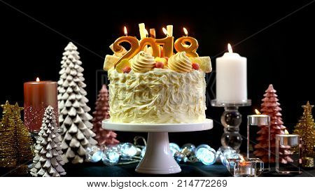 2018 Happy New Year Showstopper Cake