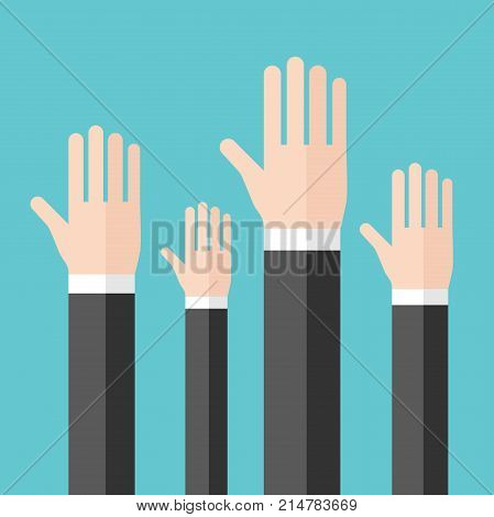 Raised Hands, Voting Concept