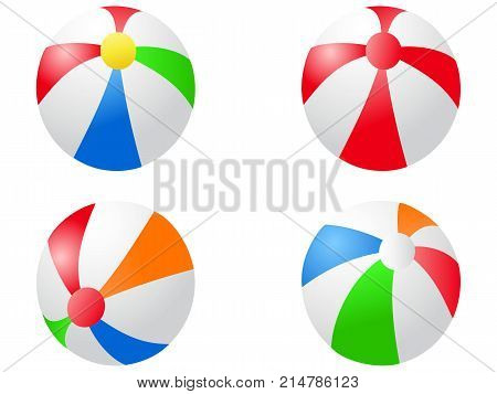 isolated color beach balls icon from white background
