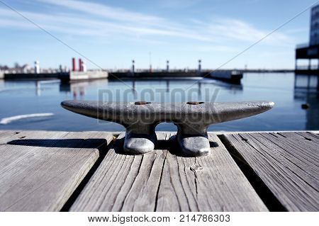 Boat Tie at Shore of Lake Ontario - Kingston Ontario