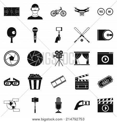 General producer icons set. Simple set of 25 general producer vector icons for web isolated on white background