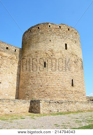 Bilhorod-Dnistrovskyi castle or Akkerman fortress architectural monument of XIII-XIV centuries in Ukraine