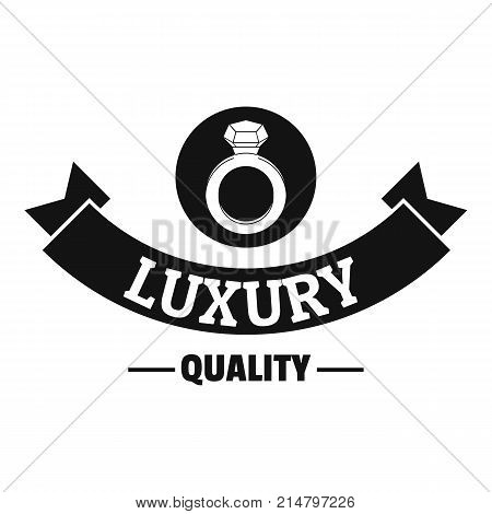 Jewelry quality logo. Simple illustration of jewelry quality vector logo for web