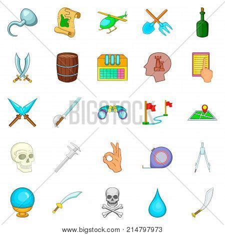 Archeology icons set. Cartoon set of 25 archeology vector icons for web isolated on white background