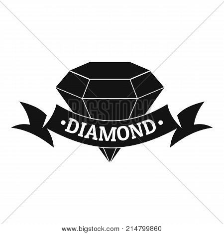 Diamond logo. Simple illustration of diamond vector logo for web