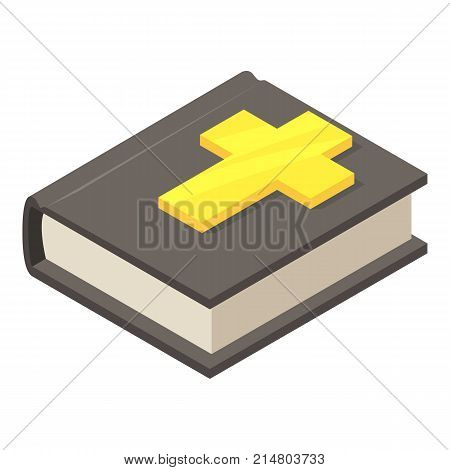 Bible icon. Isometric illustration of bible vector icon for web