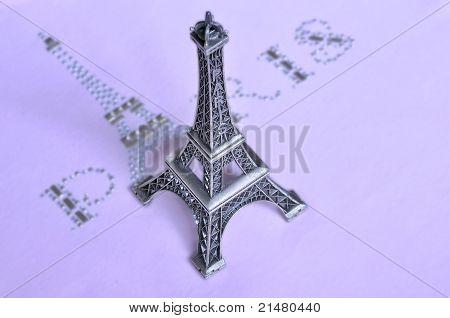 Glamur T-shirt Inscription - Paris.