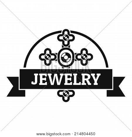 Jewelry cross logo. Simple illustration of jewelry cross vector logo for web