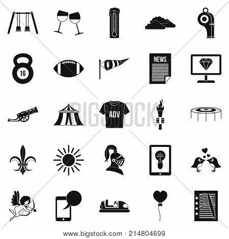 Ensign icons set. Simple set of 25 ensign vector icons for web isolated on white background