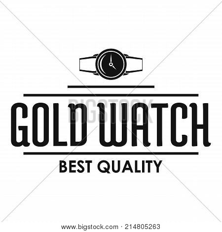 Jewelry watch logo. Simple illustration of jewelry watch vector logo for web