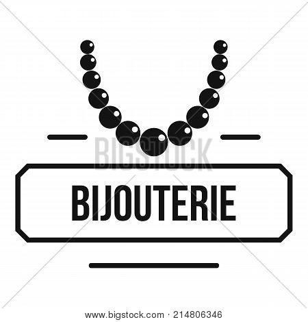 Jewelry bijouterie logo. Simple illustration of jewelry bijouterie vector logo for web