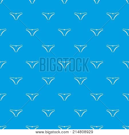 Panties pattern repeat seamless in blue color for any design. Vector geometric illustration