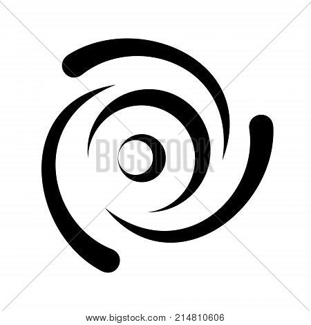 Drop swirling water logotype icon. Simple style vector illustration of water funnel conditional image top view. Household appliance washer machine icon for web or print design.