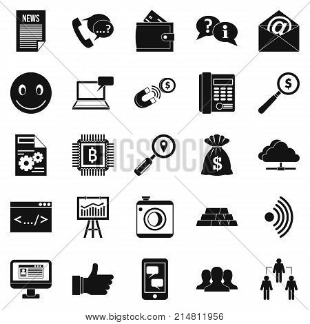 Public relation icons set. Simple set of 25 public relation vector icons for web isolated on white background