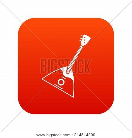 Balalaika icon digital red for any design isolated on white vector illustration