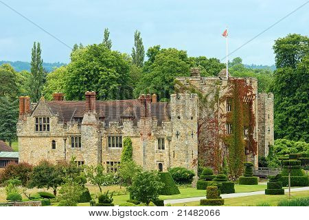 Hever Castle Hever England on a sunny day poster