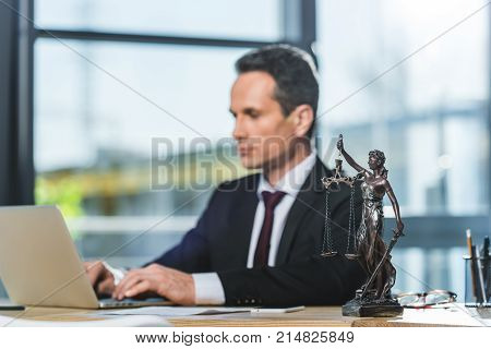 Lawyer Working On Laptop