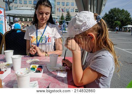 Open Day Of Sberbank For Children. Beauty. Tyumen