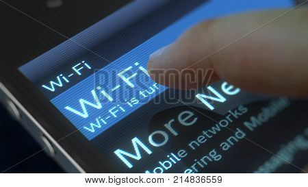 Mobile Phone Wi-fi Screen Illustration