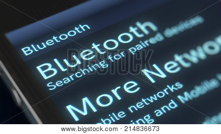 Smart Phone Bluetooth Icon Illustration