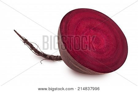 Fresh Red Beet Root Cut In Half