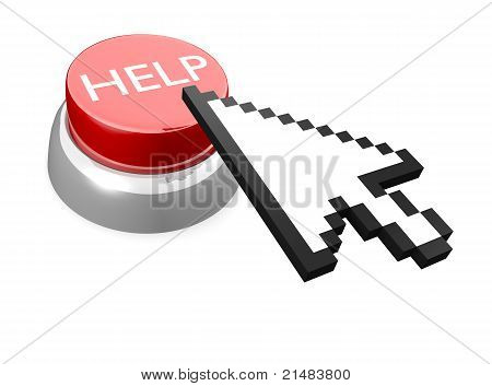 HELP button with mouse cursor