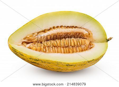 Ripe Melon Cut In Half