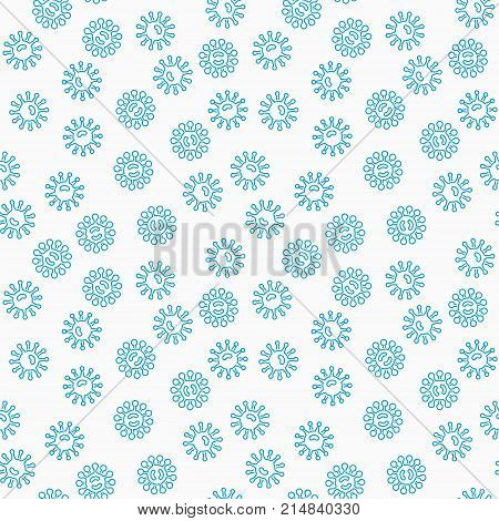 Harmful blue bacteria vector seamless pattern or texture