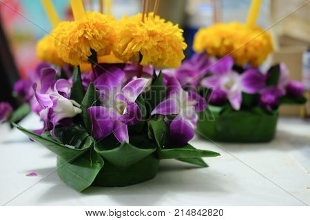 Kratong for Loy Kratong Festival celebrated in Thailand