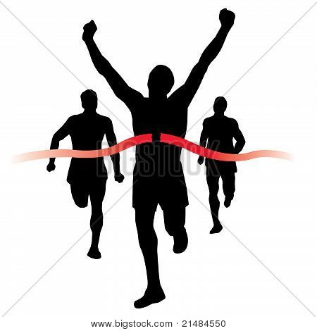 Runner wins the race