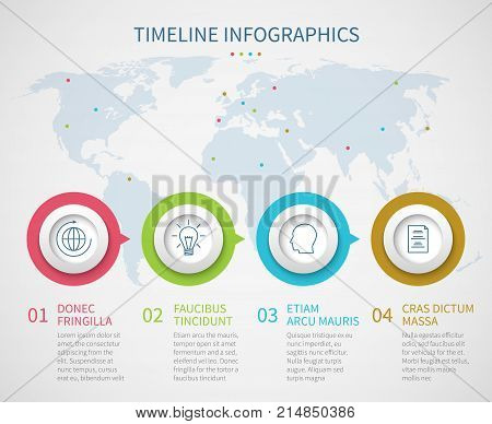 Business chart timeline with process steps. Vector progress flow diagram infographics template. Progress step diagram graph, workflow infographic illustration