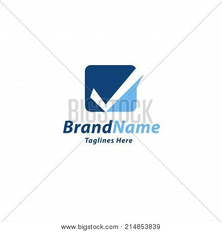 creative check mark, right sign, approved icon square with a tick ok, vector Check mark in box sign,