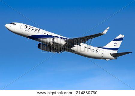 Elal Israel Airlines Boeing 737 Airplane
