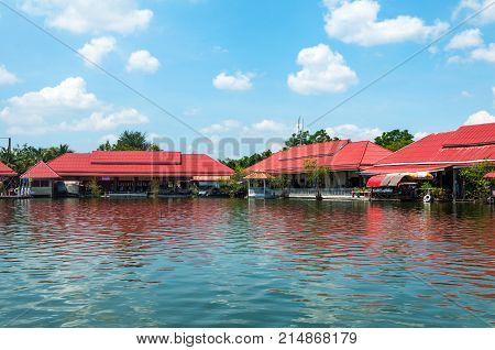 Hua Hin Floating Market in Hua Hin.Thailand. Entertaining floating market