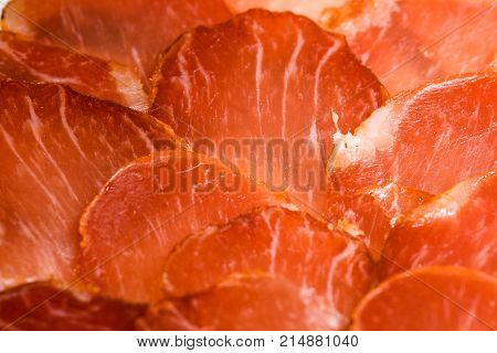 Iberian ready pork loin to taste cut in slices