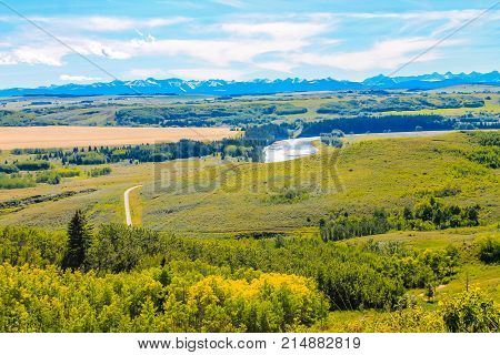 Path to the Bow River, Glenbow Ranch Provincial Recreation Area, Alberta, Canada