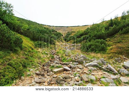 Bialy Jar Ravine And Rocks In Karkonosze Mountains In Poland