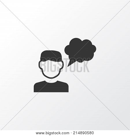 Thinker Icon Symbol. Premium Quality Isolated Avatar Element In Trendy Style.
