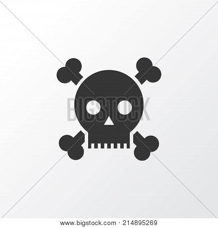 Poison Icon Symbol. Premium Quality Isolated Skull Element In Trendy Style.